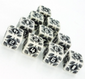 White & Black Battle D6 Sniper Dice Set